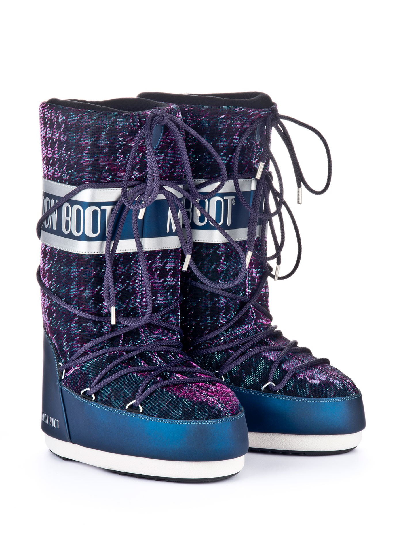 Moon boot Glam blue silver